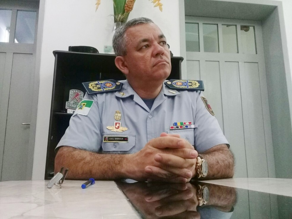 Coronel Osmar Maciel, comandante da PM no Rio Grande do Norte (Foto: Anderson Barbosa/G1)