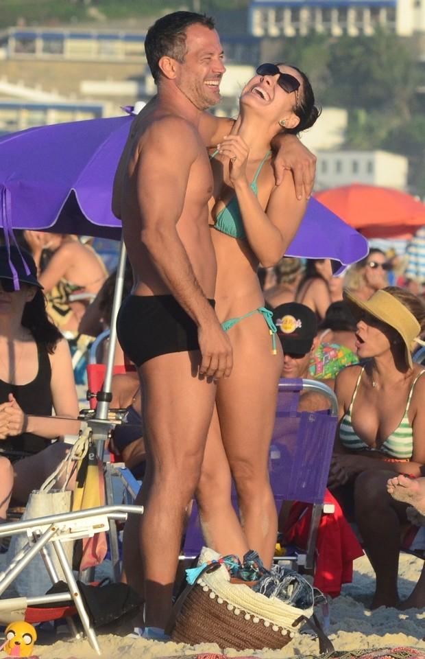 Malvino Salvador e Kyra Gracie (Foto: Webert Belicio / AgNews)