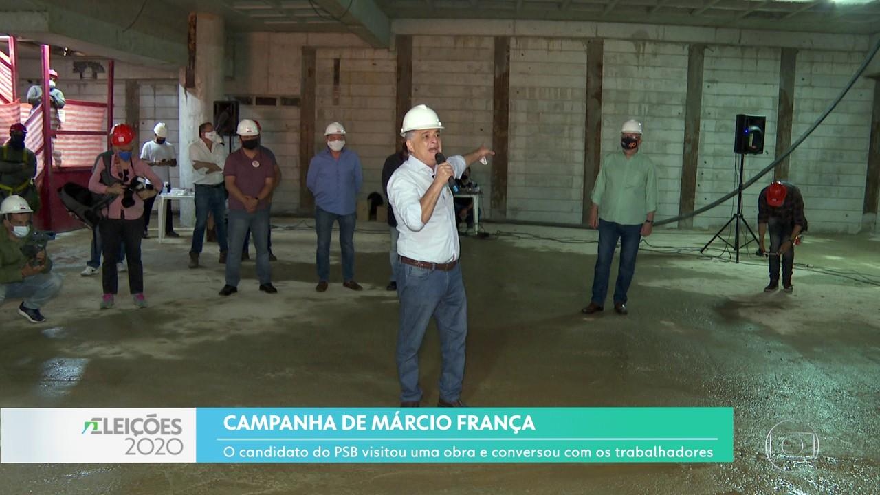 Márcio França visitou canteiro de obras nos Jardins