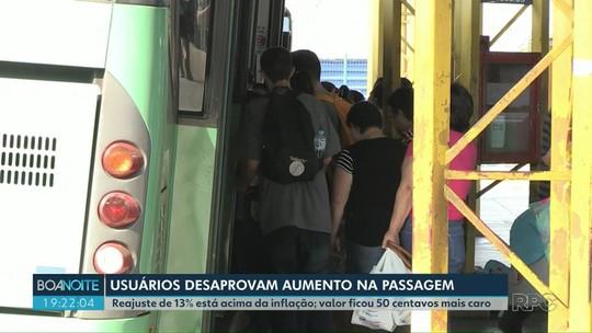 Tarifa do transporte público de Ponta Grossa vai aumentar para R$ 4,30, diz prefeitura