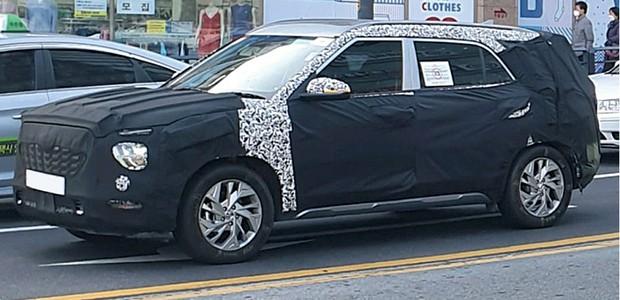 Modelo nacional do Hyundai Creta será  lançado em 2021 - Pela primeira vez, o SUV terá uma opção  de sete lugares, algo inédito no nicho  (Foto: Divulgação)