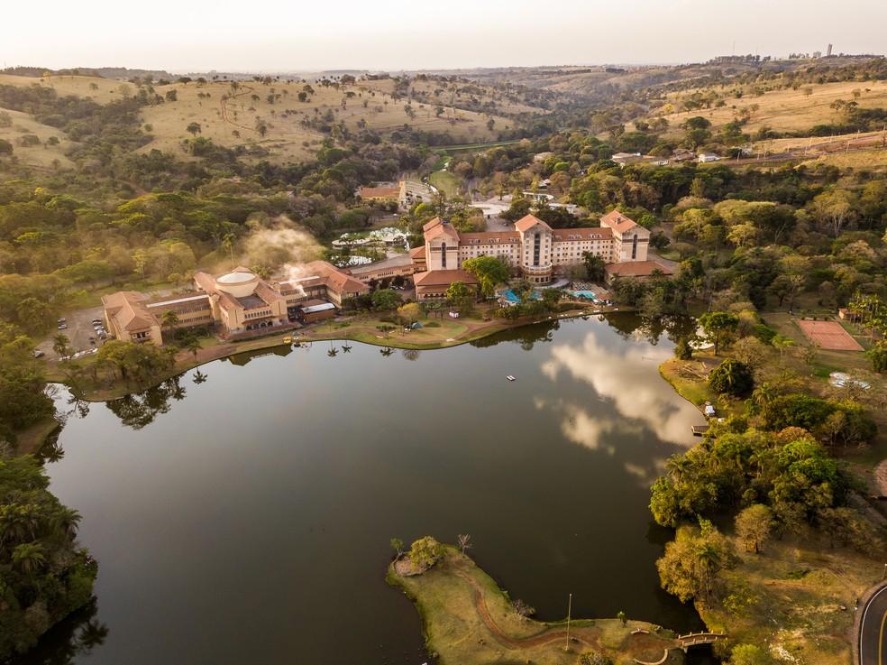 Vista panorâmica do Grande Hotel Termas de Araxá — Foto: Termas e SPA Grande Hotel Termas de Araxá/Divulgação