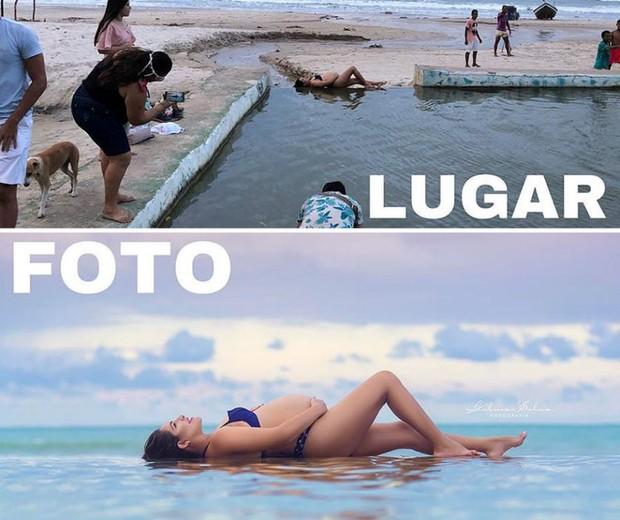 Dá pra acreditar que é a mesma praia? (Foto: Gilmar Silva)
