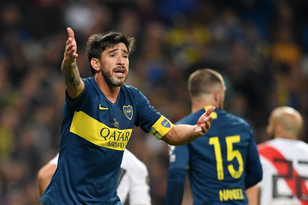 Pablo Pérez é o capitão do Boca Juniors — Foto: Getty Images