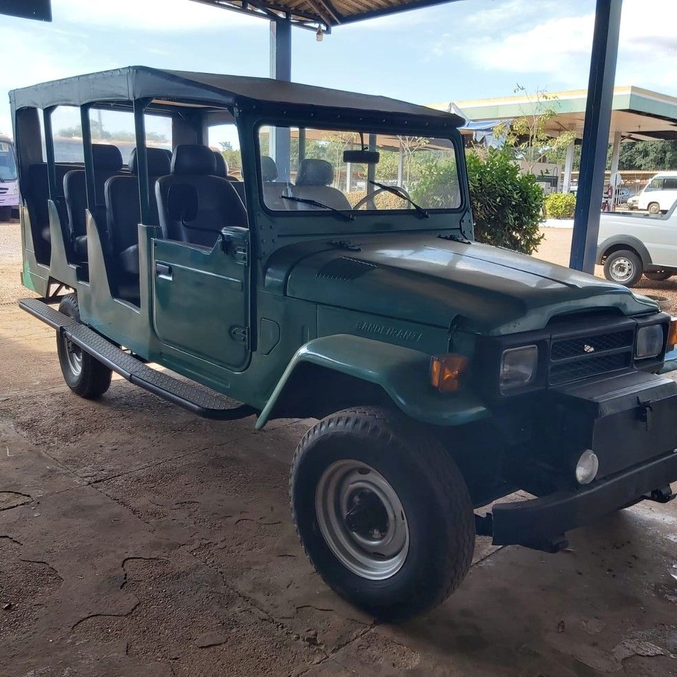 Veículo Toyota Bandeirante que está em serviço no Parque Estadual do Cantão — Foto: Governo do Tocantins
