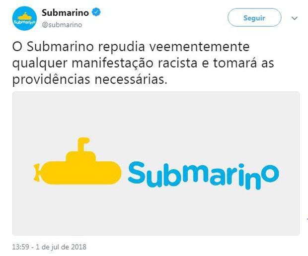 Post da Submarino (Foto: Reprodução/Twitter)