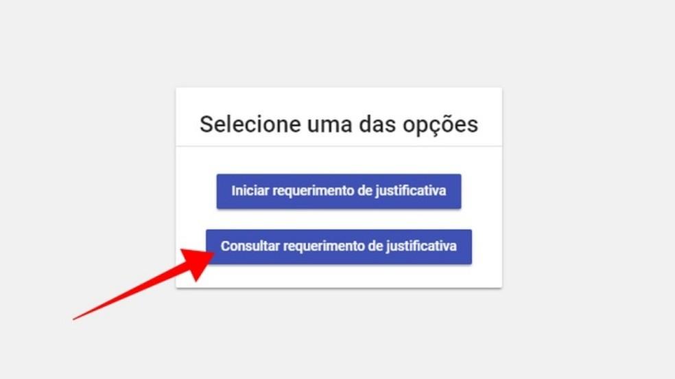 Consulte o andamento da justificativa — Foto: Reprodução/Paulo Alves