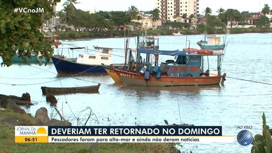 Famílias procuram por quatro pescadores de Ilhéus que estão desaparecidos