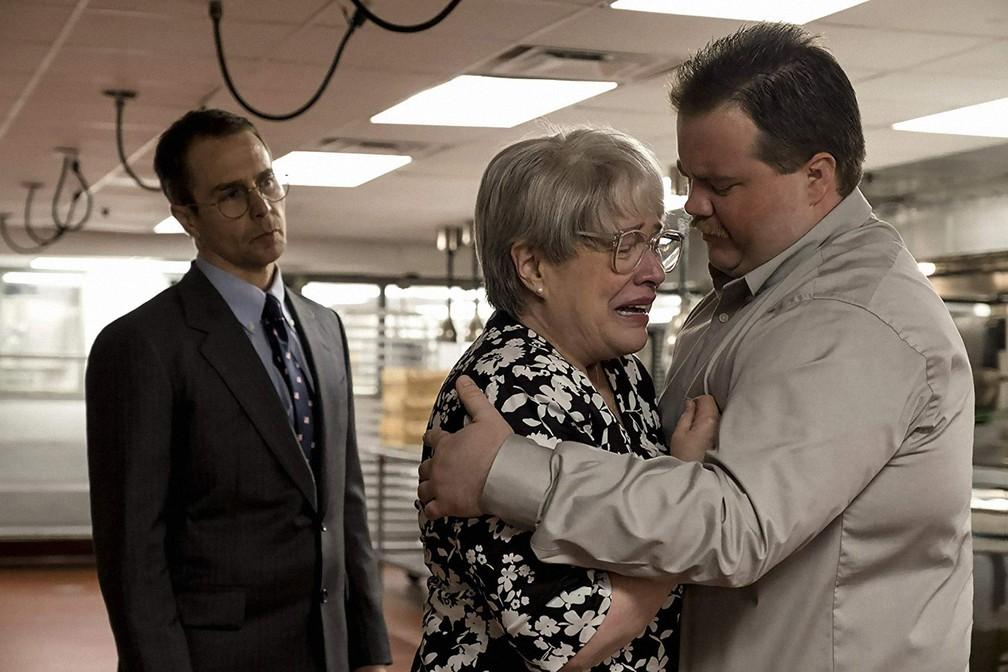 Sam Rockweel, Kathy Bates e Paul Water Hauser estrelam 'O Caso Richard Jewell' — Foto: Divulgação