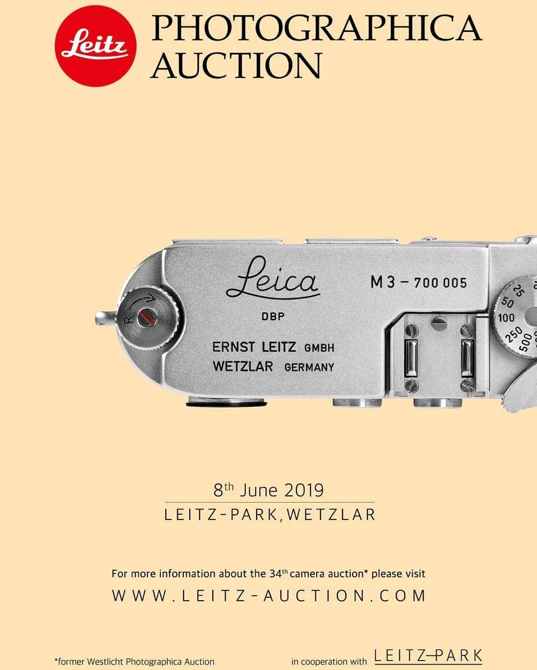 Cartaz do leilão da Leica (Foto: Reprodução/ Instagram)