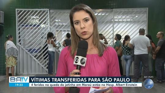 Cinco sobreviventes de acidente com jato na Bahia são transferidos em UTI aérea para São Paulo