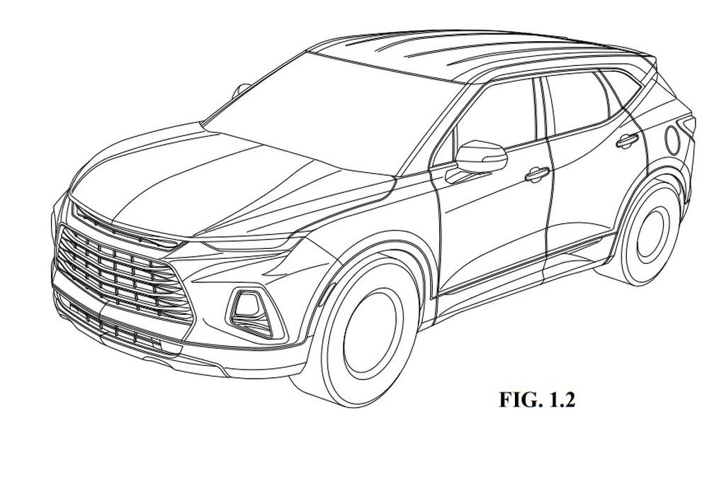 Chevrolet Blazer é registrado no Brasil — Foto: Reprodução/INPI