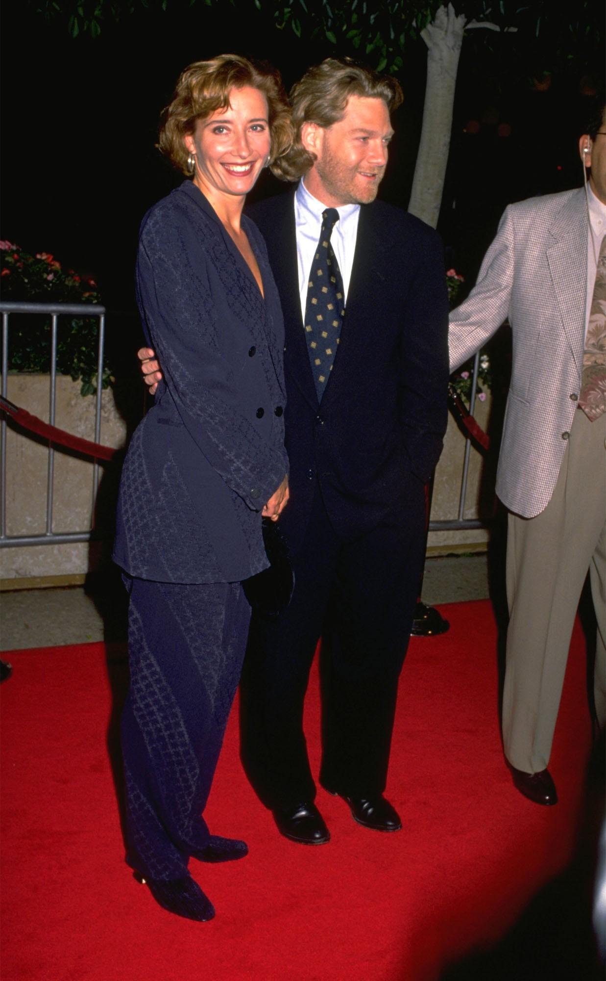 A atriz Emma Thompson e o ator e diretor Kenneth Branagh na época em que eram casados (Foto: Getty Images)