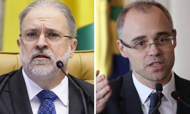 Augusto Aras e André Mendonça: disputa pela próxima vaga no STF