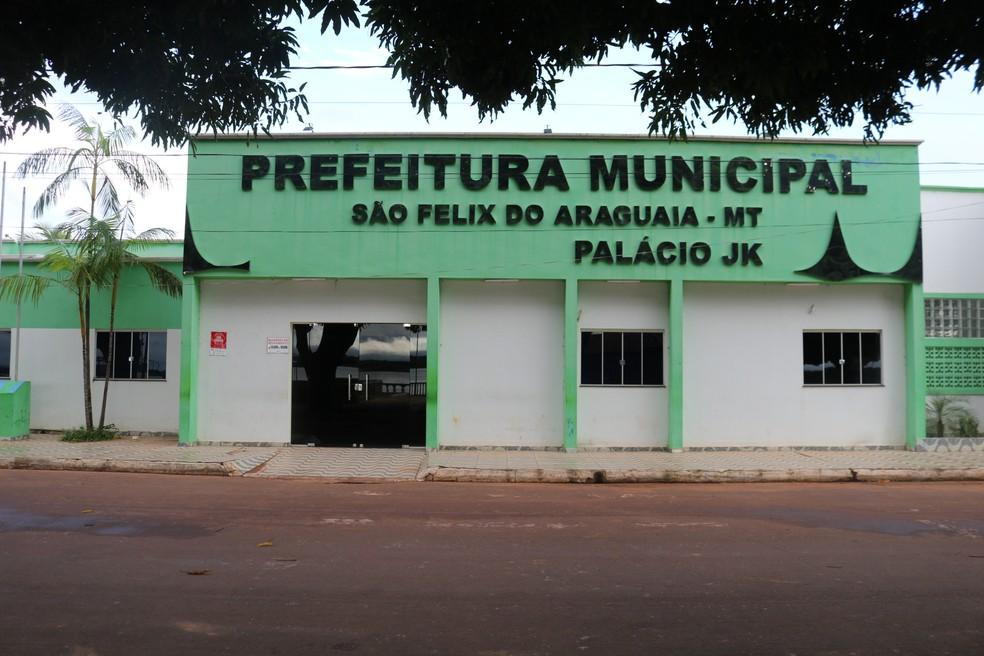 Prefeitura de São Félix do Araguaia (MT) — Foto: Prefeitura de São Félix do Araguaia/Divulgação