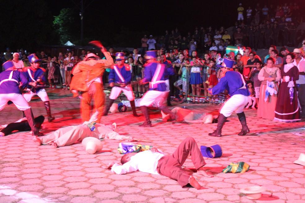 Encenação da Batalha do Jenipapo — Foto: Ellyo Teixeira/G1