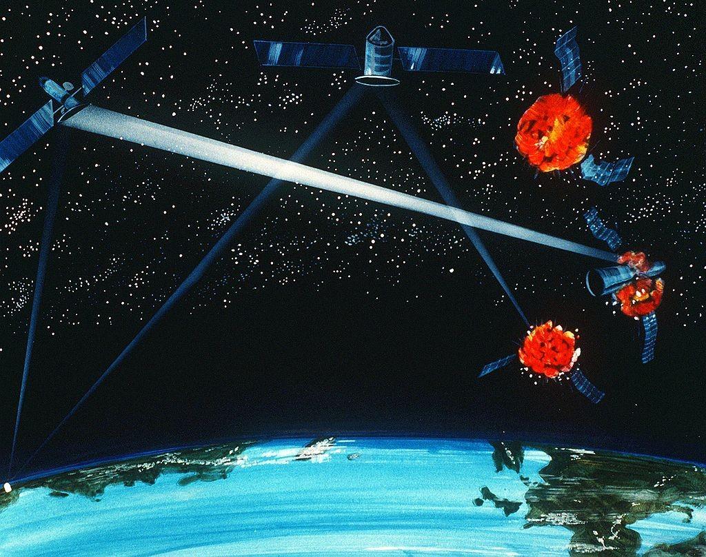 Esquema demonstra o projeto 'Guerra nas Estrelas', da década de 1980 (Foto: Wikimedia Commons)