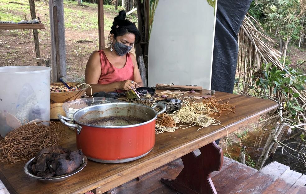 Izolena mora no Tumbira, às margens do Rio Negro. — Foto: Matheus Castro/G1