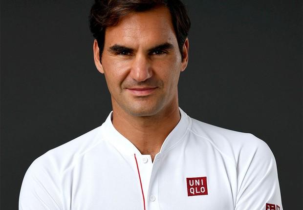 Roger Federer, tenista suíço, agora patrocinado pela Uniqlo (Foto: Ella Ling/Divulgação)