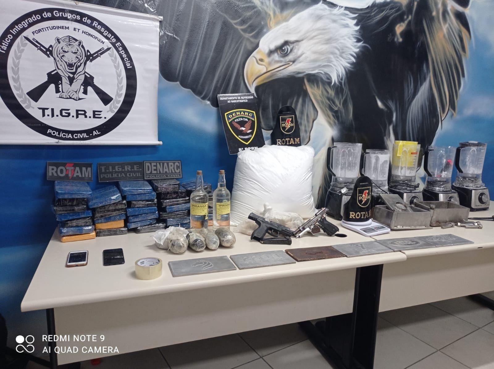 Operação em AL e PE termina com 6 presos, 2 mortos e apreensão de drogas avaliadas em mais de R$ 3 milhões