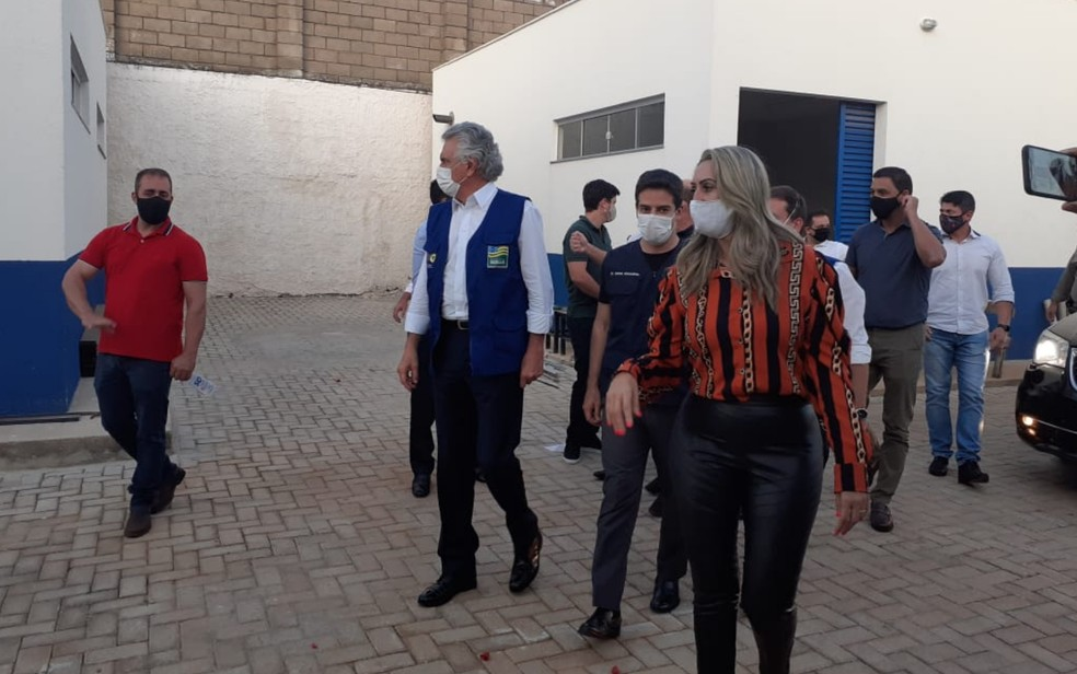 Caiado vistoriou Hospital Regional de Luziânia — Foto: Naiara Santos/TV Anhanguera