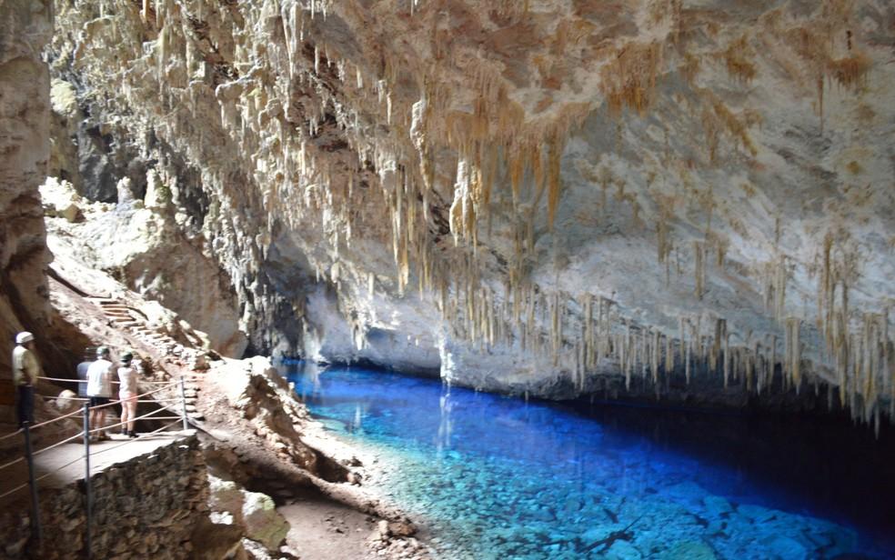 Gruta do Lago Azul é um dos principais atrativos turísticos de Bonito — Foto: Anderson Viegas/G1 MS