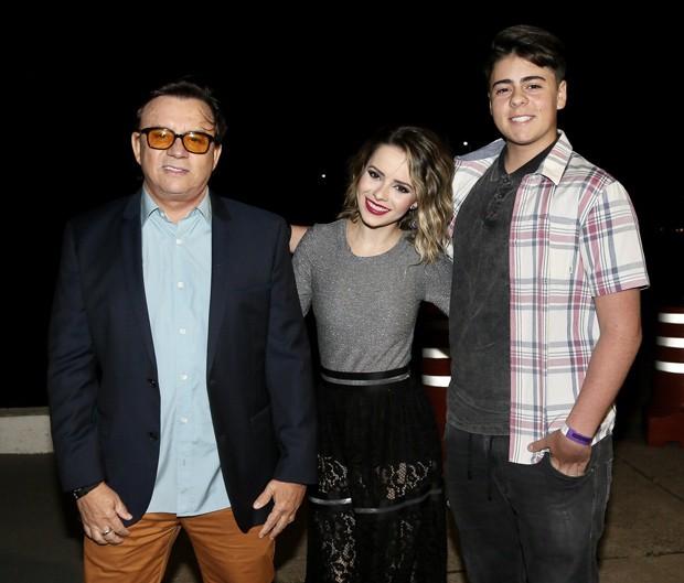 Chitãozinho, Sandy e Enrico Lima (Foto: Manuela Scarpa/Brazil News)