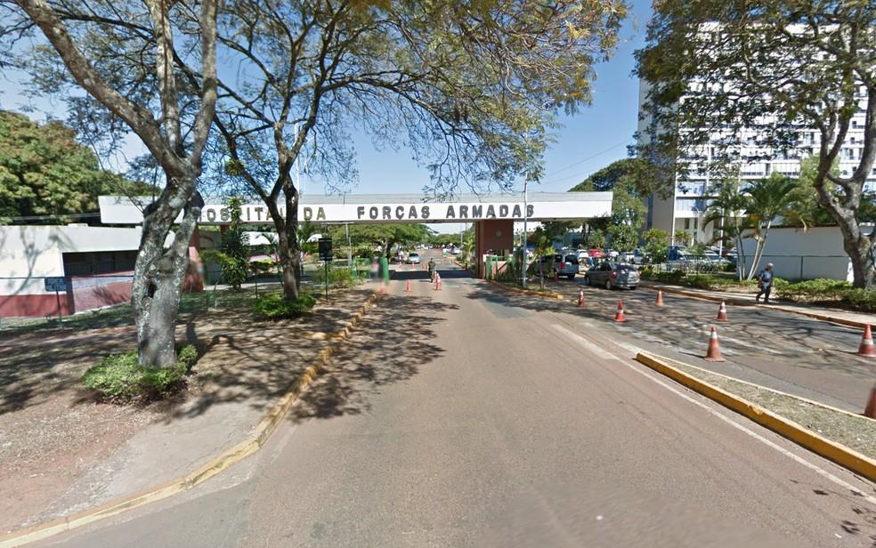Fachada do Hospital das Forças Armadas (HFA) no Cruzeiro, em Brasília — Foto: Google/Reprodução