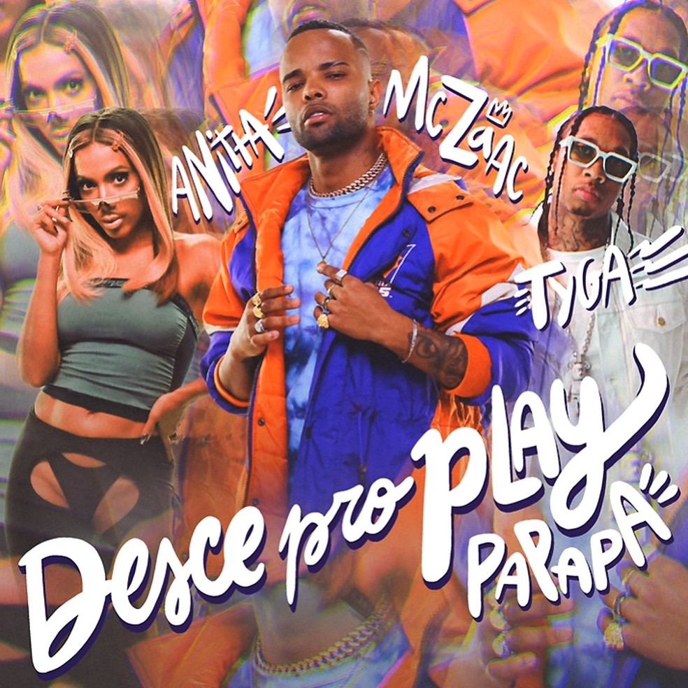 Capa do single 'Desce pro play', de Anitta, MC Zaac e Tyga — Foto: Reprodução