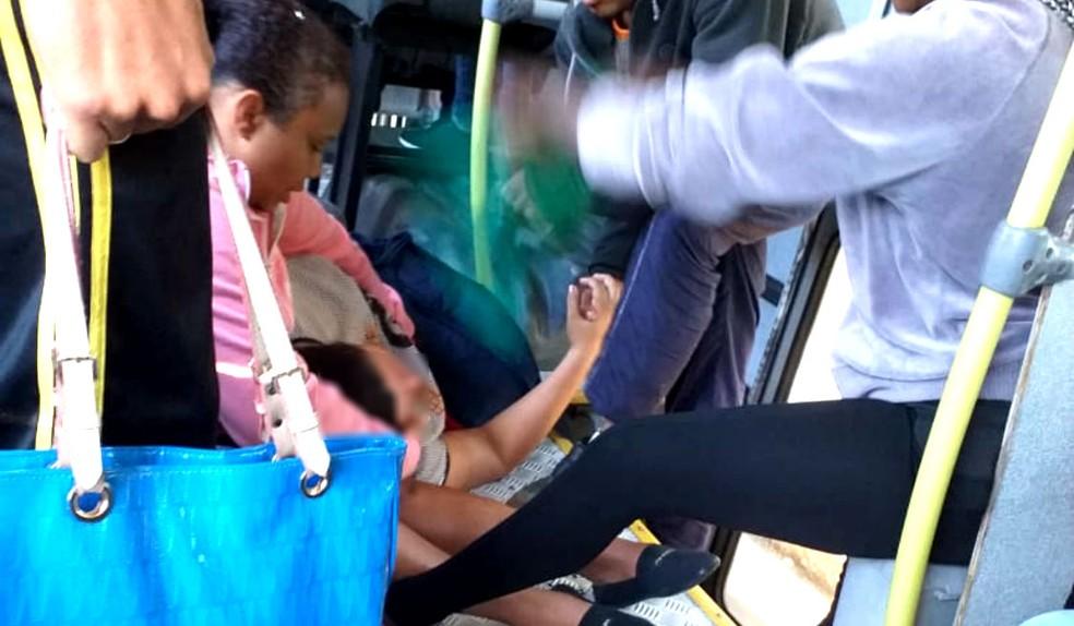 Motorista desvia rota de ônibus para salvar vida de mulher com suspeita de infarto em Bauru — Foto: Arquivo pessoal