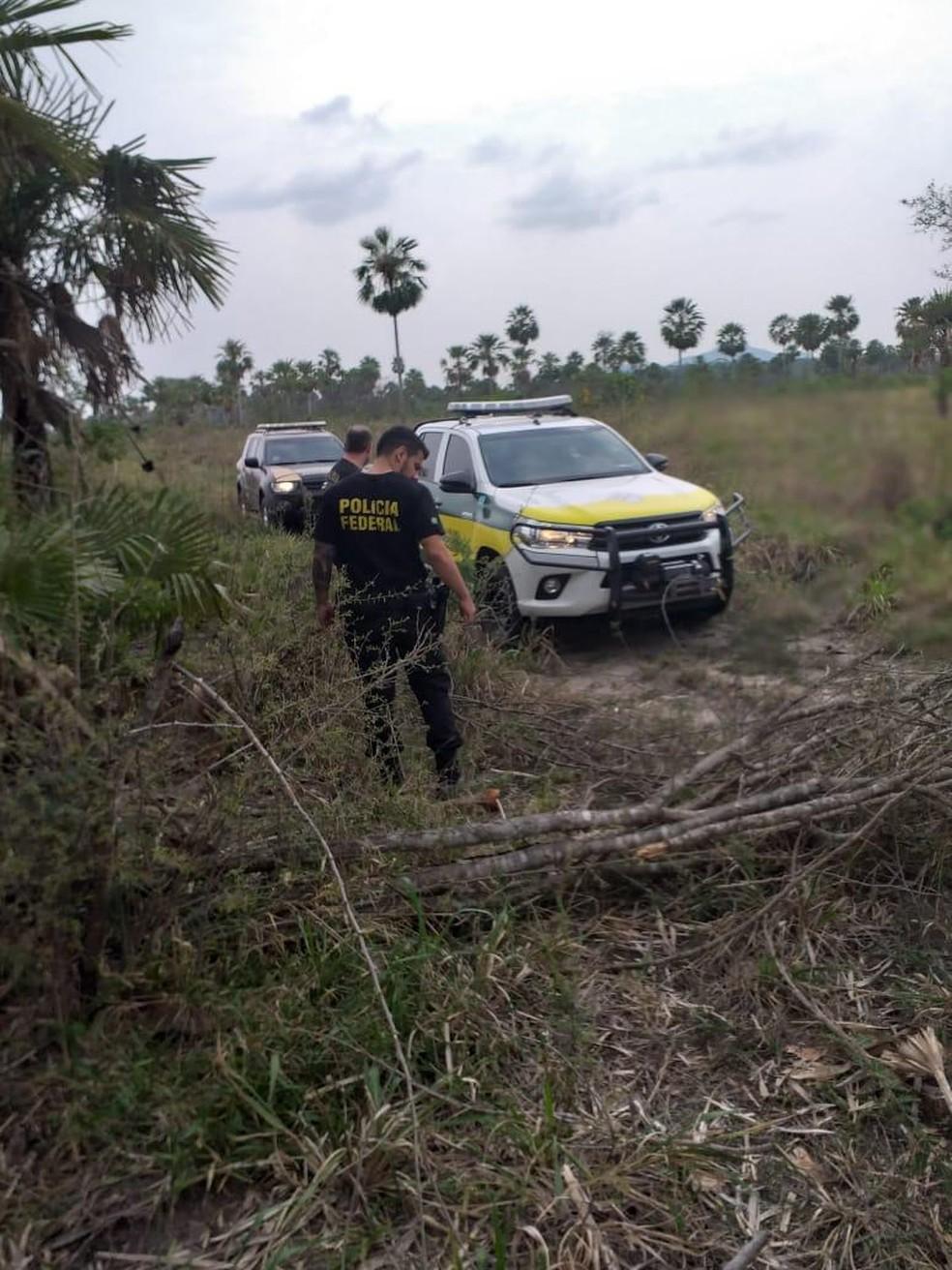 Polícia Federal em Operação na Aldeia Kadiwéu, no Pantanal de Mato Grosso do Sul — Foto: PF/Divulgação
