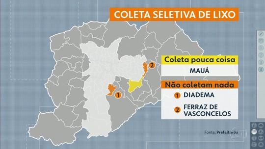 Só seis cidades da Grande São Paulo recolhem 100% do lixo reciclável
