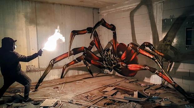 Esta aranha é um sucesso nas redes sociais por tamanho realismo (Foto: Divulgação)