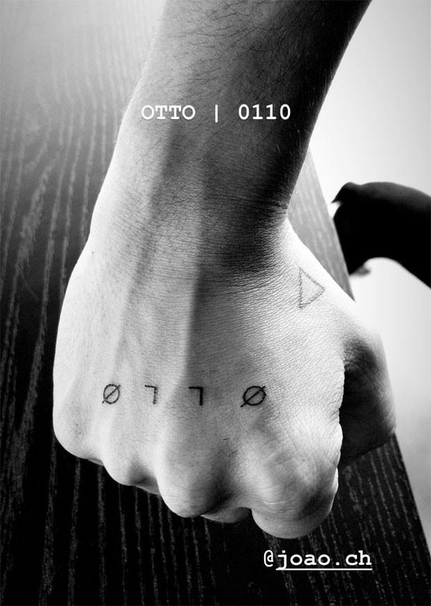 Junior Lima faz tatuagem com nome e data de aniversário de Otto (Foto: Reprodução/Instagram)