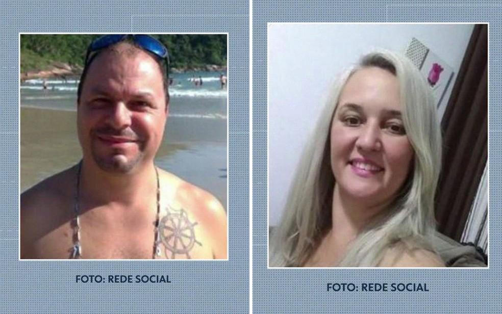 Flaviana, Romuyuki e filho Juan foram encontrados carbonizados no ABC — Foto: Reprodução/Redes Sociais