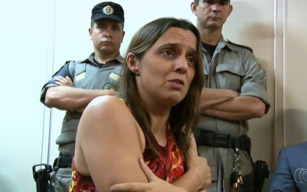 Márcia Zaccarelli foi condenada a 18 anos de prisão — Foto: Reprodução/TV Anhanguera
