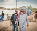 Aziz Abdallah (Herson Capri) e Fauze (Kaysar Dadour) em 'Órfãos da terra' | Globo/Paulo Belote