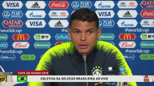 """De novo capitão em uma Copa, Thiago Silva diz: """"Me preparei muito para isso"""""""