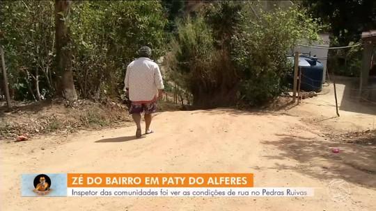 Zé do Bairro vai até Paty do Alferes conferir reclamação de moradores