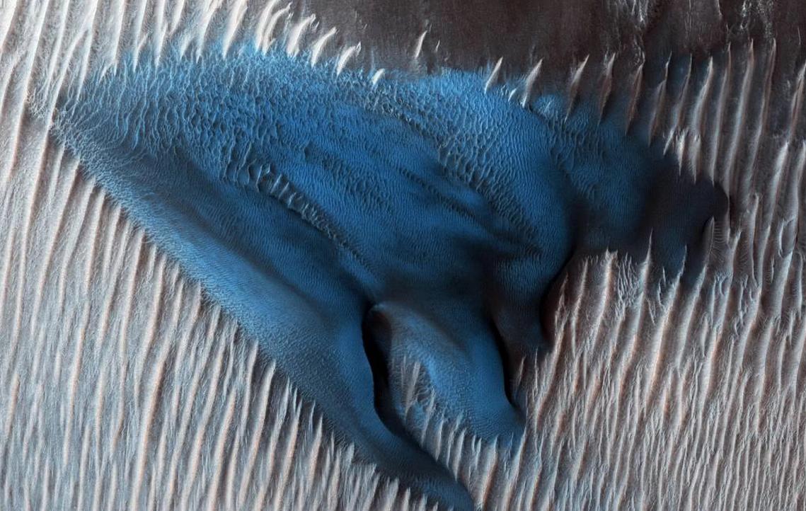 Registro da sonda Mars Reconaissance Orbiter (MRO) (Foto: Divulgação/NASA)