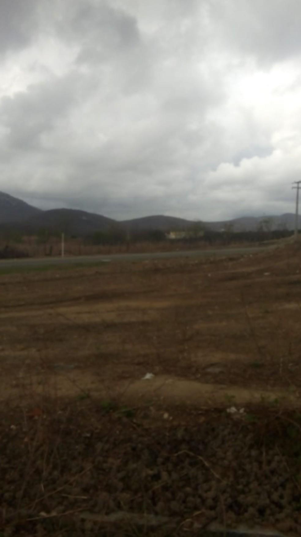 Tempo nublado em Itapiúna, no interior do Estado. — Foto: Reprodução/Sistema Verdes Mares