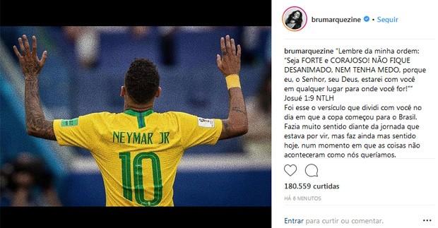 Bruna Marquezine declara apoio a Neymar (Foto: Reprodução)