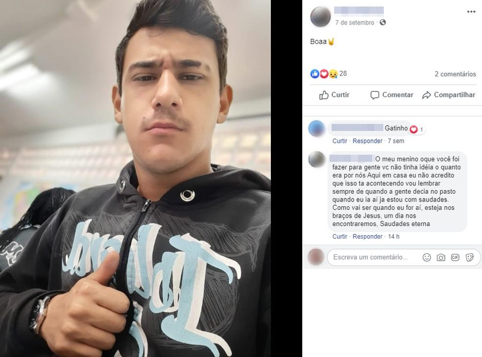 Jovem morre após se afogar em açude em Cesário Lange  — Foto: Reprodução/Facebook/Pedro Mathias