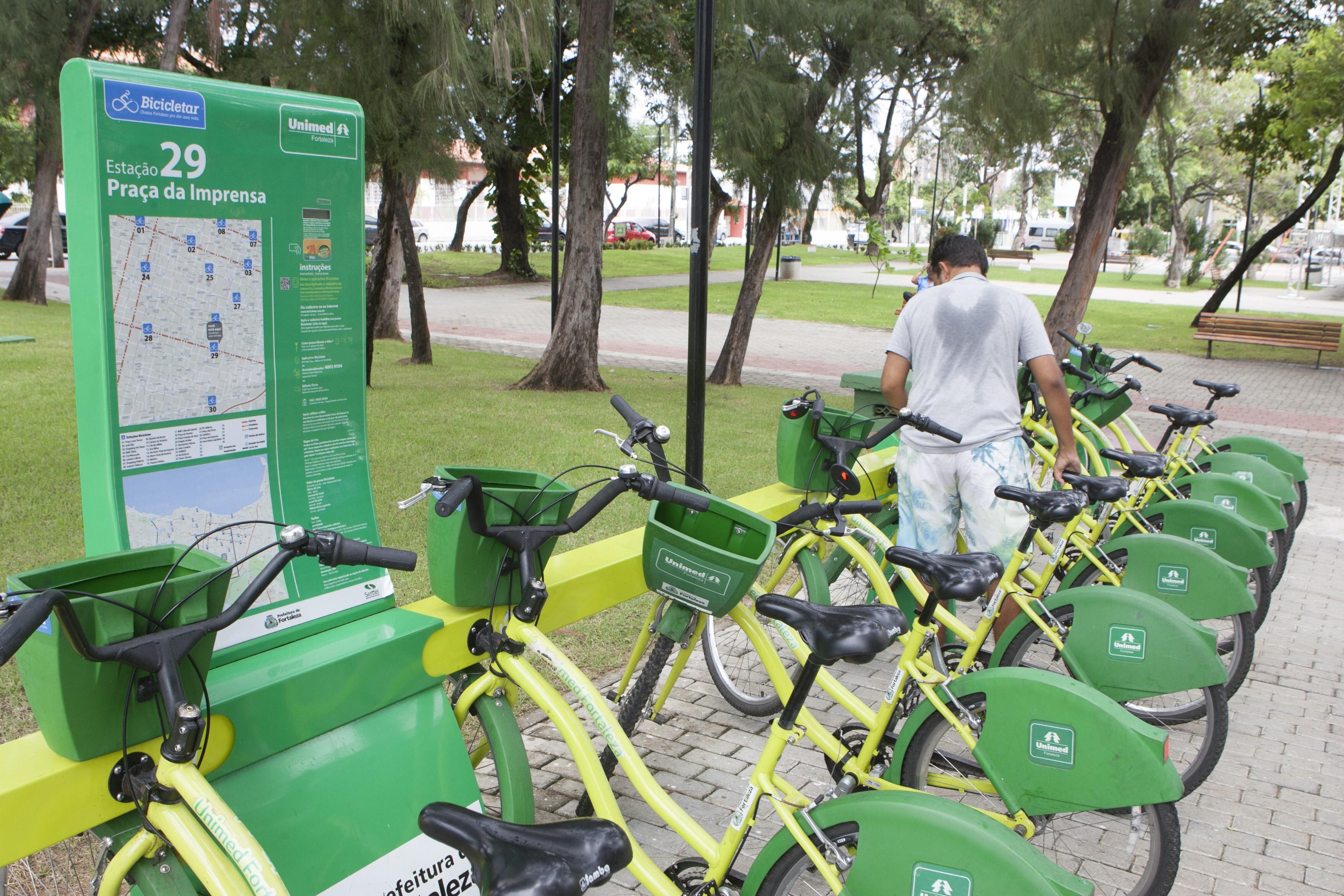 Com nova versão de aplicativo, usuários do Bicicletar podem reservar bicicletas por até 5 minutos em Fortaleza