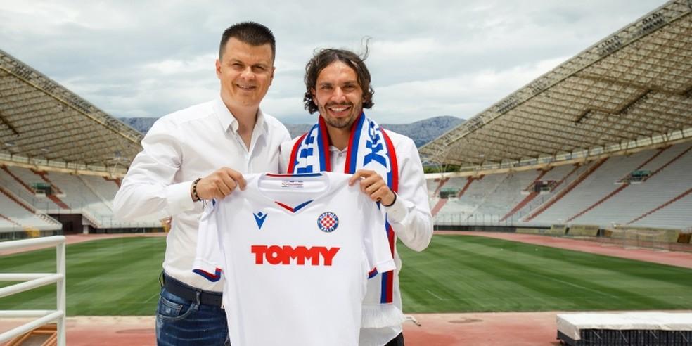 Krovinovic foi anunciado como reforço do Hadjuk Split