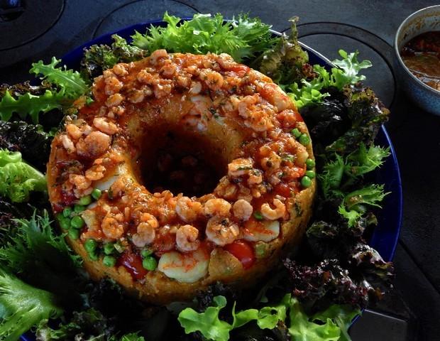 Cuscuz de camarão (Foto: André Lima de Luca)