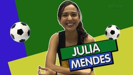 Julia Mendes participa da disputa e Léo Bittencourt arrasa no Quiz da Copa