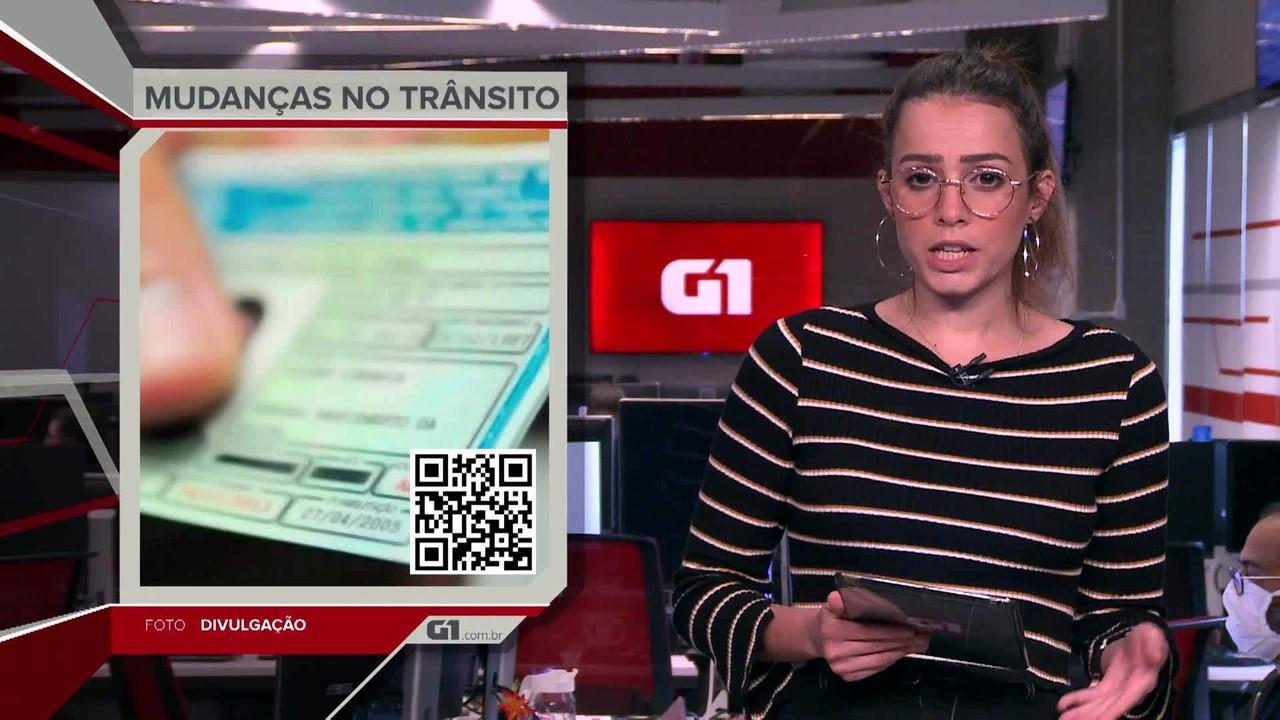 G1 em 1 Minuto: Mudanças aprovadas na lei de trânsito vão à sanção de Bolsonaro