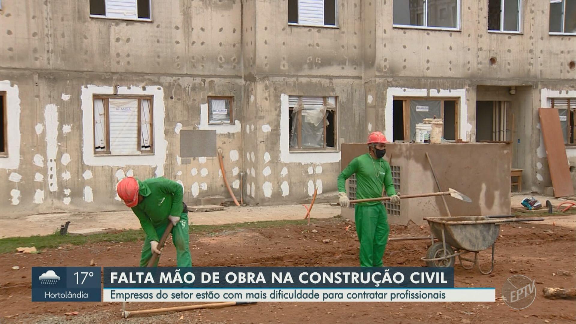 Pandemia cria 'novo mercado' para trabalhadores da construção civil e grandes obras relatam falta de mão de obra na região de Campinas