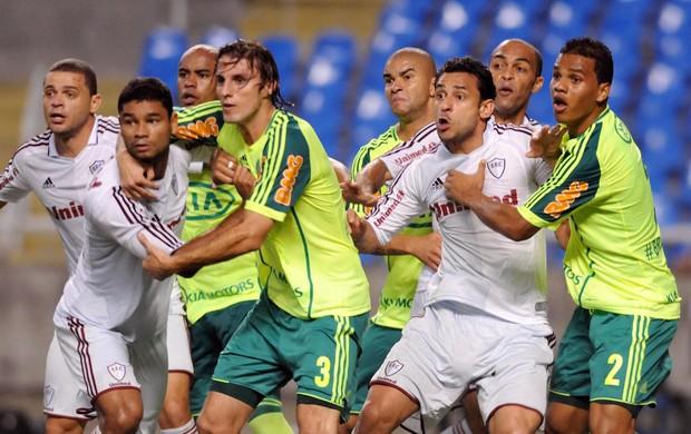 Gum e Fred Fluminense x Palmeiras (Foto: Dhavid Normando / Photocamera)